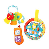 Set 3 món đồ chơi điện thoại, Vô lăng phát nhạc kèm chìa khóa gặm nướu Winfun 3025 - BPA free thumbnail