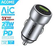 Cốc Sạc Ôtô ACOME 2 Cổng Sạc USB & PD QC 3.0 27W - Hàng Chính Hãng thumbnail