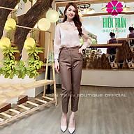 Quần baggy nữ Hiền Trần BOUTIQUE đẹp chất vải cao cấp baggy công sở đai ô vuông phong cách cá tính thumbnail