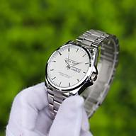 Đồng hồ nam dây thép mặt tròn RL002188 phong cách Ý hiển thị 2 lịch ngày tháng Thiết kế sang trọng Lịch lãm Dễ dàng kết hợp trang phục thumbnail