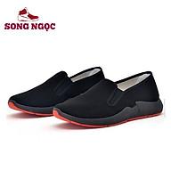 Giày Lười Vải SSN50 đế đúc nguyên khối mầu đỏ ôm chân vận động dễ chịu thoáng khí thumbnail