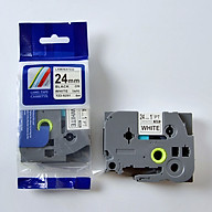 Nhãn in chữ đen trên nền trắng TZ2-S251 (24 mm dùng cho máy in nhãn) thumbnail