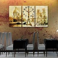 Tranh treo tường, tranh đồng hồ NT048 bộ 3 tấm ghép thumbnail