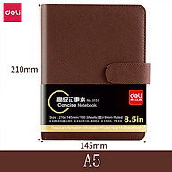 Deli PU Leather Book A5 A6 Loose-leaf Notebook Stationery Book Thickened Notepad Business Meeting School Record Notebook Magnetic Button Book Office Students Hardcover Soft Copy Diary thumbnail