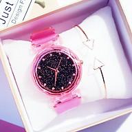 Đồng hồ thời trang nữ mặt chấm đá ST33 thumbnail