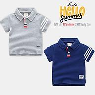 Áo thun Polo bé trai WELLKIDS áo thun có cổ cho bé chất cotton hàng xuất Âu Mỹ thumbnail