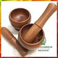 Bộ chày giã cối gỗ cao cấp Bộ chày cối gỗ hình lu tiện dụng trong nhà bếp thumbnail
