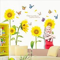 Decal dán tường hoa mặt trời đón năng XL8011 Flowerdecal thumbnail