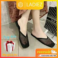 Giày Búp Bê Ladiez Thời Trang Cao Cấp Dép Sục Nữ Lưới Da Mềm Êm Chân Thoáng Khí Đế Bệt Xinh Xắn Siêu Đẹp thumbnail
