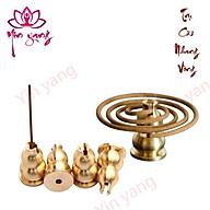 Trụ Đồng Cài Nhang Vòng, Thắp Hương- Đồ Thờ Cúng- Yinyang Shop cao cấp, chất lượng thumbnail