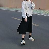 Chân váy Midi dài Lưng cao Dáng chữ A Màu trơn Ulzzang Hàn Quốc Chân váy Midi dài Thu Đông Cạp cao Thời trang thumbnail