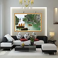 tranh treo phòng khách phong cảnh hữu tình 45x60 kính CL CÓ KHUNG SANG TRỌNG thumbnail