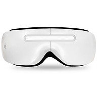 Foldable Electric Eye Massager heated Eye Mask Eye Protector with Heat Vibration for Headache Stress Relief Eye Dark - White thumbnail