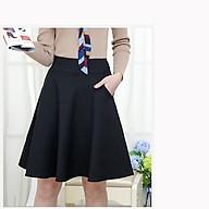 Chân váy xòe xinh xắn dáng dài đến đầu gối phối túi hông thumbnail