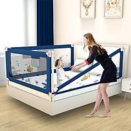 Thanh chắn giường cho bé an toàn cao cấp chống kẹt, cao tới 105cm, hạ được 1 góc, 24 nắc điều chỉnh mẫu mới nhất trượt lên xuống (Giá 1 thanh) thumbnail