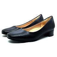 [Giày Da] Giày Cao Gót Mũi Vuông Trơn Sang Trọng Êm Chân Giày Cao Gót Công Sở Thời Trang GMIC SABA10 thumbnail