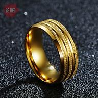 Nhẫn titan nam 3 sọc - nhẫn nam sáng bóng bền màu - Trang sức Bé Heo BHN118 thumbnail
