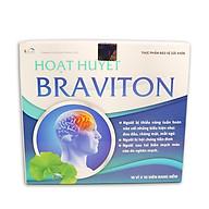 Hoạt huyết dưỡng não BRAVITON Giảm đau đầu, hoa mắt, chóng mặt, mất ngủ, mệt mỏi, suy giảm trí nhớ - Hộp 100 viên sử dụng 50 ngày, thành phần Ginkgo 180mg, Lạc tiên, Tâm sen, Đinh lăng, Cây nữ lang thumbnail