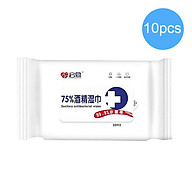 10pcs Wet Wipes Cleaning Sanitary Hand Wipes Cleanser Cleaning Cotton Swabs Pads for Travel Home House Office Daily thumbnail