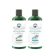 Combo 2 Nước rửa tay khô tinh dầu Sả Chanh và Bạc Hà PK 100ML kết hợp tinh dầu tràm trà, diệt khuẩn 99,9% thumbnail
