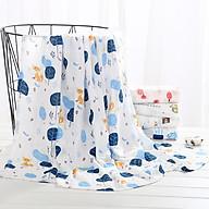 Khăn Tắm Em Bé, Khăn Tắm Loại Tốt 100% Cotton Mềm Mịn Thấm Hút Tốt - Họa Tiết Bé Trai thumbnail