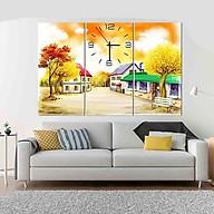 Tranh treo tường, tranh đồng hồ DH314A bộ 3 tấm ghép thumbnail