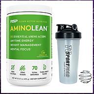 Combo BCAA Amino Lean của RSP hộp 70 lần dùng hỗ trợ tăng sức bền, sức mạnh và phục hồi, phát triển cơ bắp trong tập luyện cho người tập gym & Bình lắc 600ml (Mẫu ngẫu nhiên) thumbnail