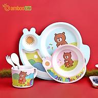 Bộ khay ăn dặm sợi tre Bamboo Life cho bé BL028 gồm 5 chi tiết hàng chính hãng Bộ bát chén ăn dặm cho bé Đồ dùng ăn dặm cho bé thumbnail