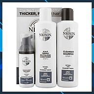 Bộ dầu gội xả Nioxin 2 Natural Hair Progressed Thinning Travel Kit Cho tóc tự nhiên có dấu hiệu thưa rụng Mỹ 150ml thumbnail