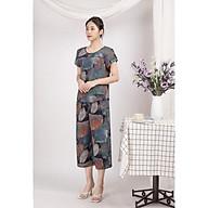 Bộ đồ nữ mặc nhà trung niên cho các bà, các mẹ - Bộ đồ ngủ Tole (lanh) - Bộ mặc nhà trung niên vải lanh (tole) Vicci BGS.082, thiết kế áo cộc tay phối quần ống sớ in hoạ tiết (Màu 19-20-21-22-23) thumbnail