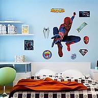 Decal dán tường trang trí phòng ngủ, lớp mầm non- Người nhện- mã sp DDF9911 thumbnail