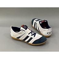 Giày đá banh sân cỏ nhân tạo, sân futsal màu trắng sọc đen thumbnail