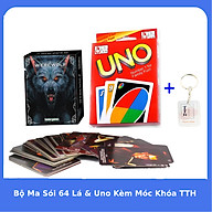 Bộ Ma Sói 64 Lá và Uno bản tiếng Việt Kèm móc khóa TTH thumbnail