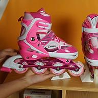 Giày Patin Caroman K600 với giá cả phải chăng, thiết kế bắt mắt nhưng vẫn mang lại đôi giày có đầy đủ tính năng phù hợp với những bạn bắt đầu tập chơi với bộ môn patin phù hợp với các bé từ 3 tuổi đến 10 tuổi có 3 màu dễ lựa chọn là trò chơi lành mạnh giúp bé rèn luyện tăng cường sức khoẻ tốt hơn thumbnail