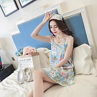 Đầm ngủ, đầm mặc nhà 2 dây dễ thương kèm bịt mắt HB28 thumbnail