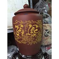 Hũ đựng gạo 10kg gốm sứ Bát Tràng thumbnail