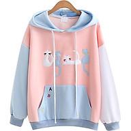 Áo Khoác Hoodie Nữ Mèo Xinh 519 (Màu Ngẫu Nhiên) thumbnail