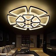 Đèn trần - đèn trần phòng khách - đèn trang trí nội thất cao cấp 12 cánh LED 3 màu ánh sáng thumbnail