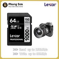Thẻ nhớ Lexar SDXC 64GB Pro 1000X 150mb s, UHS II U3 Dành cho máy ảnh - Hàng Chính Hãng thumbnail