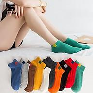 Tất vớ cổ ngắn SAM CLO gân trơn nam nữ nhiều màu phong cách vintage Hàn Quốc thumbnail