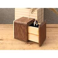 Hộp nhẫn, hộp 100% làm bằng gỗ kiểu dáng mộc mạc xinh xắn, bên trong có mút lót nhung màu đen dùng để nhẫn, thích hợp dùng làm quà tặng độc đáo cho những dịp quan trọng thumbnail