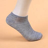 Tất trơn cổ ngắn unisex nam-nữ LYRA chất cotton thoáng mát, phong cách Hàn Quốc màu đen-trắng-ghi - VXYPK001 thumbnail