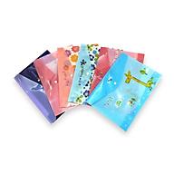 Combo 5 cái bìa nút A4 đựng giấy tờ in hình nhiều mẫu đẹp thumbnail