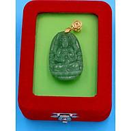 Mặt Phật Thiên Thủ Thiên Nhãn - thạch anh xanh 3.6cm MTXA8 - kèm hộp nhung - tuổi Tý thumbnail