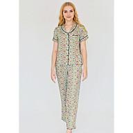 Đồ mặc nhà Bộ dài nữ ngắn tay Tvm Luxury Homewear B522 thumbnail