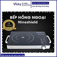 Bếp hồng ngoại bếp điện quang cảm ứng 2 vòng nhiệt NineShield 2200W tiết kiệm điện Bảo hành 12 tháng thumbnail