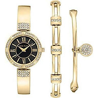 Anne Klein Women s Swarovski Crystal Accented Watch and Bracelet Set thumbnail