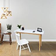 COMBO BÀN VÀ GHẾ LÀM VIỆC HIỆN ĐẠI MẶT TRẮNG MWFURNITURE - COMBO SLIM TABLE + WINDSOR thumbnail
