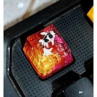 keycap cá koi tone đỏ vàng trang trí bàn phím cơ gaming thumbnail
