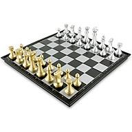 Bộ cờ vua nam châm vàng bạc bàn gỗ cao cấp thumbnail